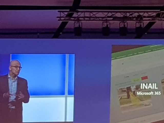 Satya Nardella, CEO di Microsoft, presenta l'INAIL come best practice (Microsoft 365) al Microsoft Innovation Summit
